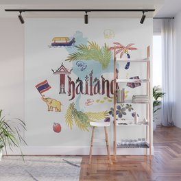 Drawings from Thailand Wall Mural