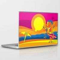 surfer Laptop & iPad Skins featuring Surfer by Roberlan Borges
