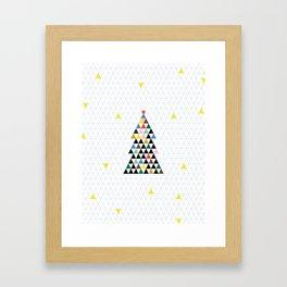 Geometric Christmas Tree Framed Art Print