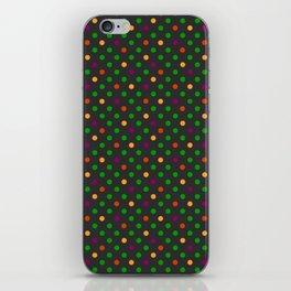 Colorful small polka dot iPhone Skin