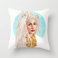 versace Throw Pillows featuring Versace Venus by Helen Green