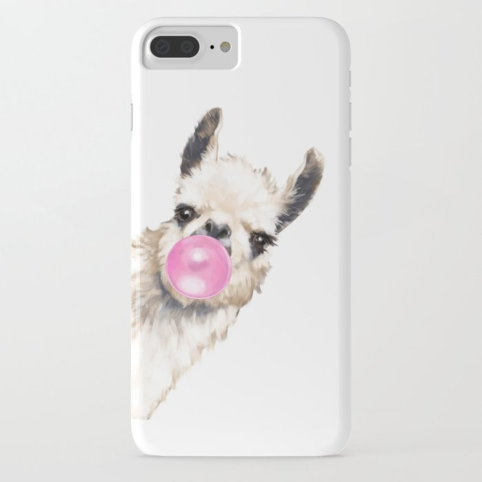 bubble gum sneaky llama iphone case