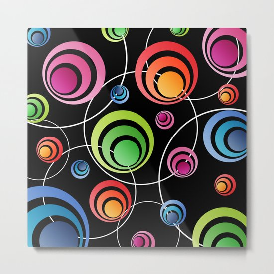 Circles In Circles. Metal Print