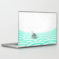 boat Laptop & iPad Skins featuring boat by lazy albino
