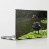 black swan Laptop & iPad Skins featuring Black Swan by Lili Batista
