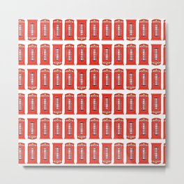 Red Telephone Booth Metal Print