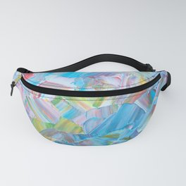 Color Explosion Plumbago and Lilies Fanny Pack