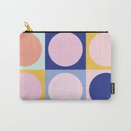 Colorful Circles in Squares Carry-All Pouch