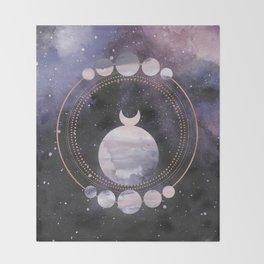 Full Moon Salutation Throw Blanket