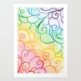 Rainbow Swirls Art Print