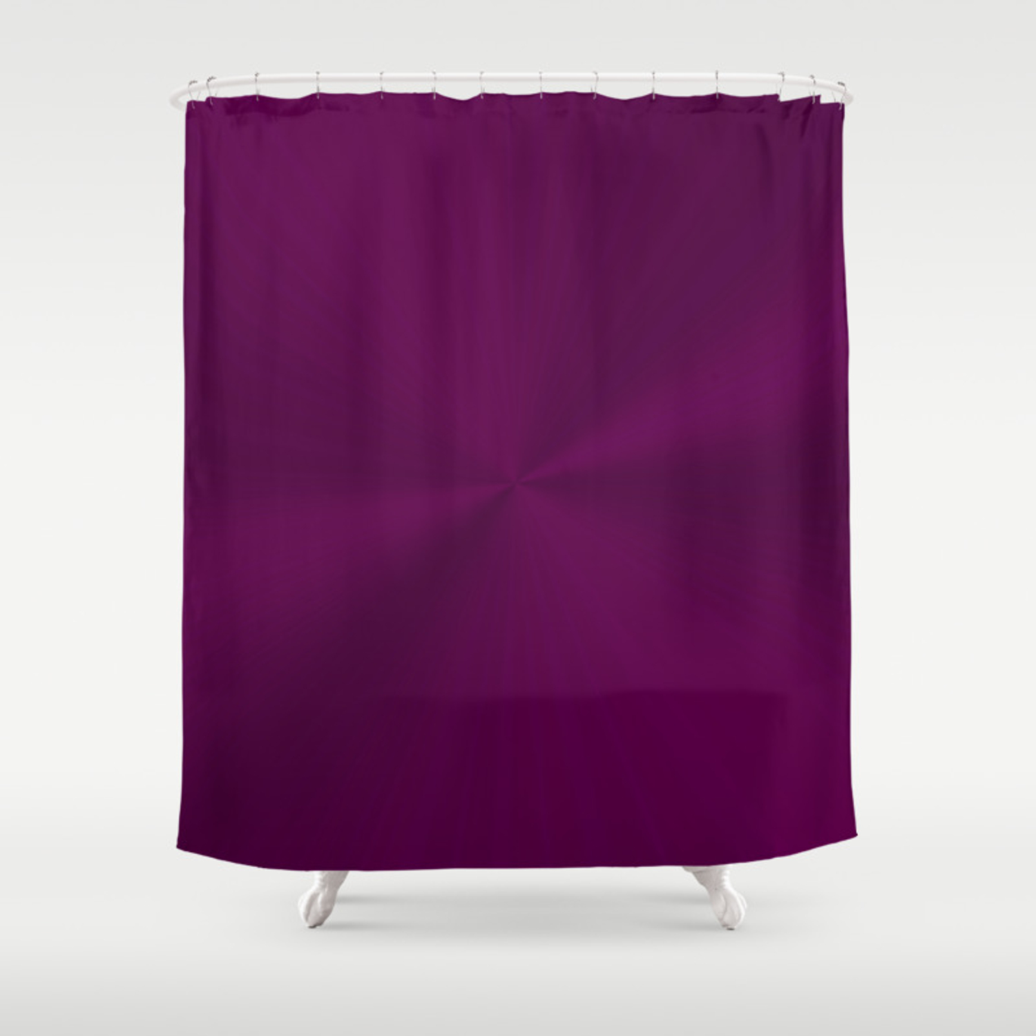 Luxurious Regal Purple With Shiny Effect Shower Curtain