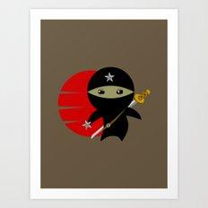 Ninja Star - Dark version Art Print