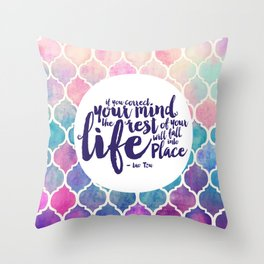 Correct Your Mind Throw Pillow
