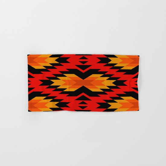 Tribal pattern - red Hand & Bath Towel