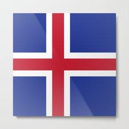 Iceland flag emblem Metal Print