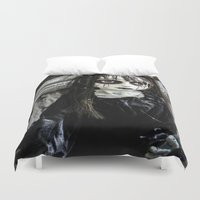goth Duvet Covers featuring Goth Girl by Nevermind the Camera