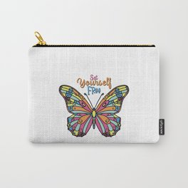 Vibrant butterfly- set yourself free  Carry-All Pouch