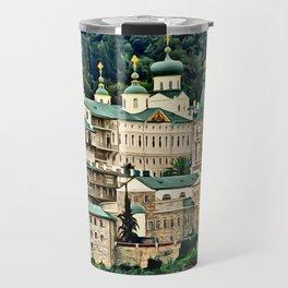 St. Panteleimon Temple Digital Painting Travel Mug