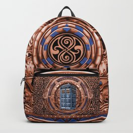 Aztec Tardis Doctor Who Full Color Pencils Sketch Backpack