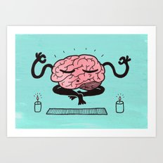 Train Your Brain Art Print