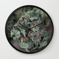 medical Wall Clocks featuring Master Kush Medical Marijuana by BudProducts.us