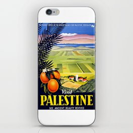 Palestine, vintage travel poster iPhone Skin