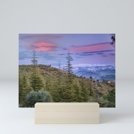 """Lenticular clouds over the mountains """"Mountain light"""". Mini Art Print"""