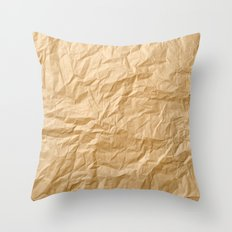 Paper Trash Throw Pillow