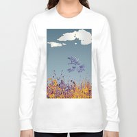 pigeon Long Sleeve T-shirts featuring pigeon by Shelby Claire