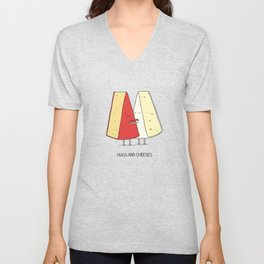 Hugs and cheeses Unisex V-Neck