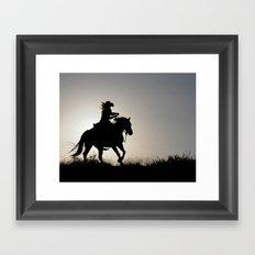 Cowgirl Adventure Framed Art Print