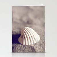seashell Stationery Cards featuring Seashell by Dena Brender Photography