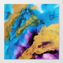 Turquoise Purple Tango Canvas Print