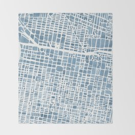 Philadelphia City Map Throw Blanket