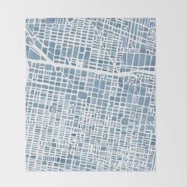Philadelphia City Map Throw Blanket