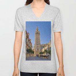 La torre de la Giralda, Seville Unisex V-Neck
