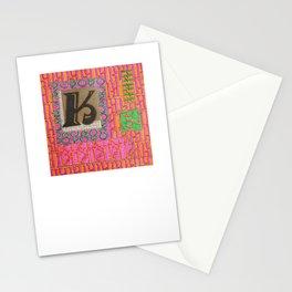 Alpha-Numero: K Stationery Cards