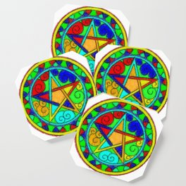 Energized Pentacle Coaster