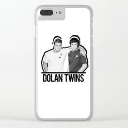 Dolan Twins // B&W Clear iPhone Case