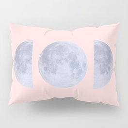 pink moon phases Pillow Sham