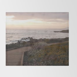 On the right path - Wildflowers bloom for those in love Throw Blanket