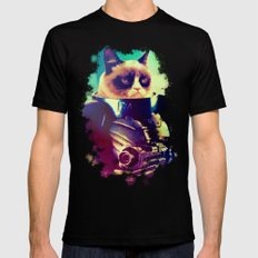 GRUMPY STRAX Mens Fitted Tee Black X-LARGE