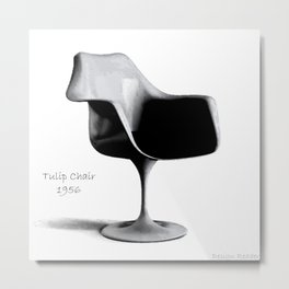 Tulip Chair Metal Print