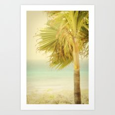 Palm Trees Always Whisper Art Print