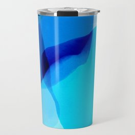 blue winter ice now abstract watercolor Travel Mug
