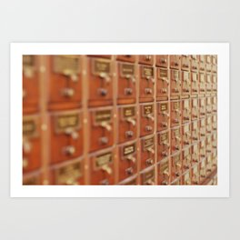Card Catalog Art Print