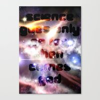 science Canvas Prints featuring Science by The Drawing Beard