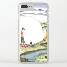 Bunny and Girl Clear iPhone Case