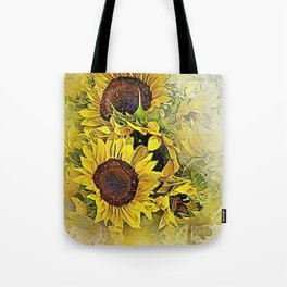 Painted Sunflowers Tote Bag