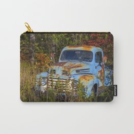 Old Blue Ford Truck Carry-All Pouch